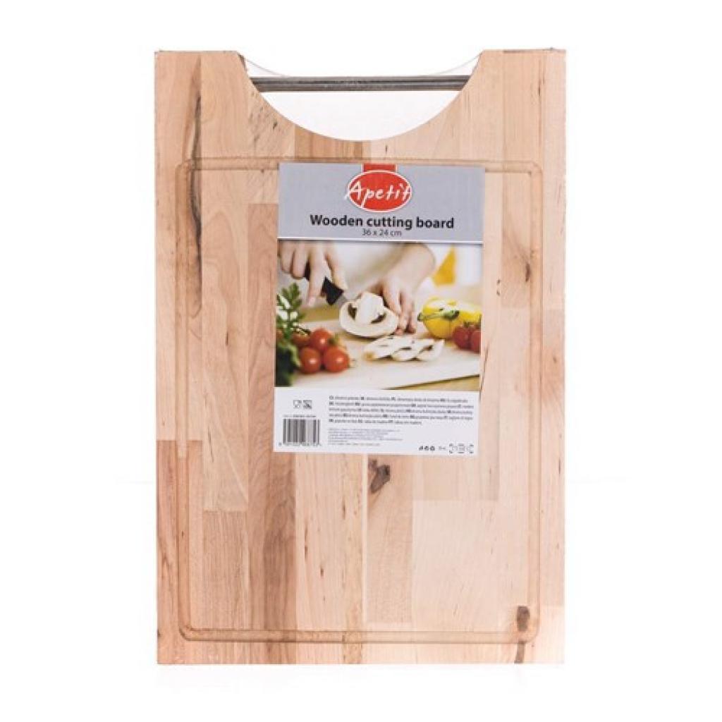 Produktové foto Dřevěné krájecí prkénko Apetit 36 x 24 cm