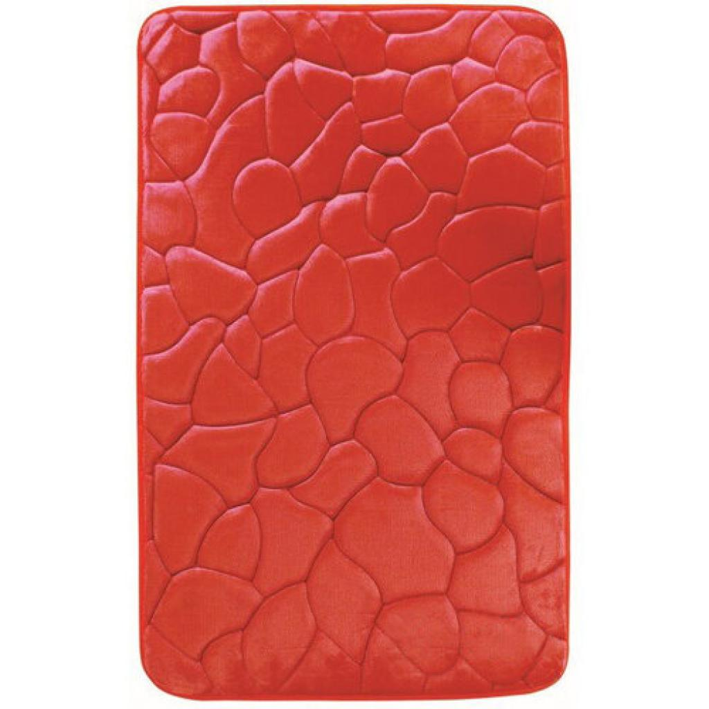 Produktové foto VOPI Koupelnová předložka s paměťovou pěnou Kameny červená, 50 x 80 cm