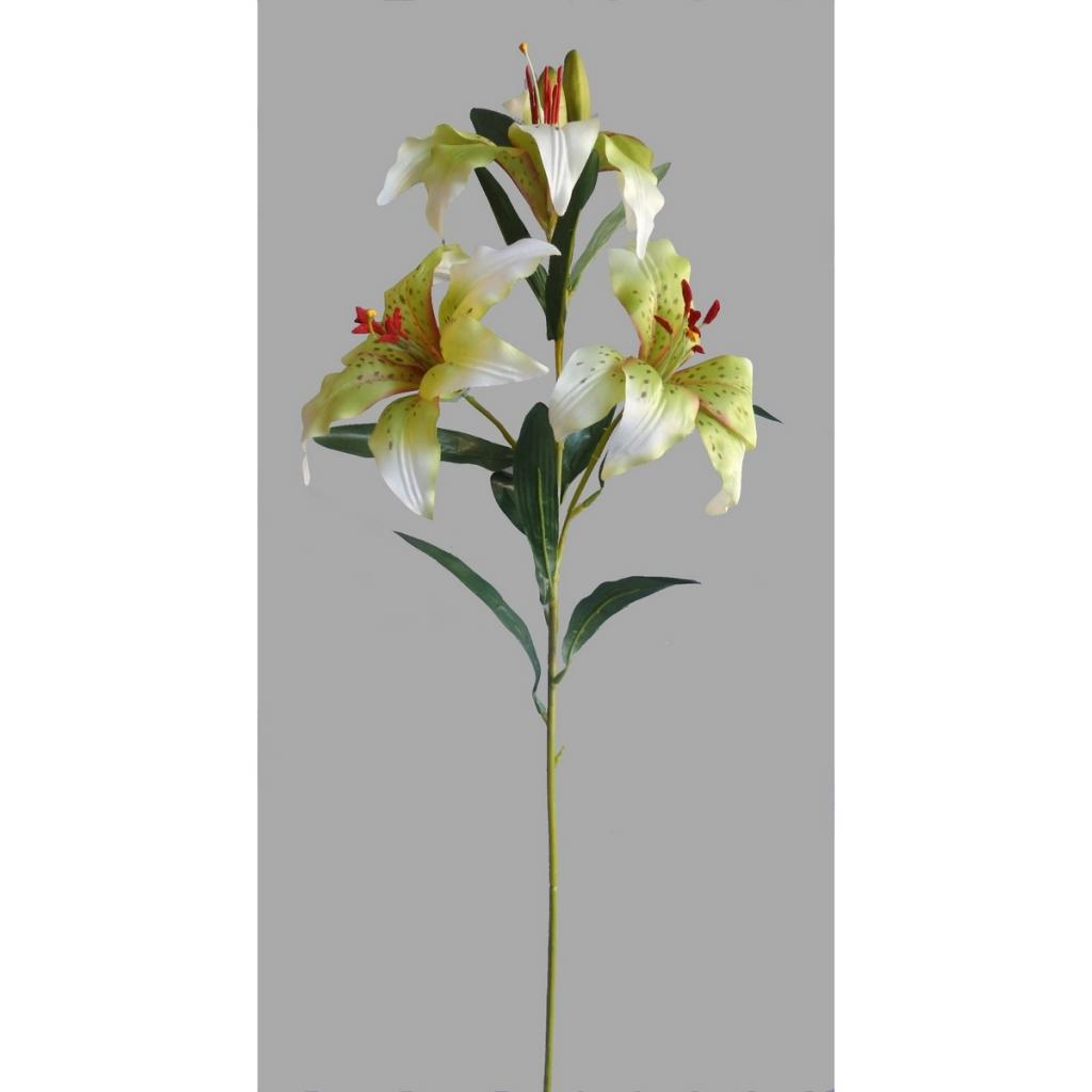 Produktové foto Umělá květina Lilie, bílá
