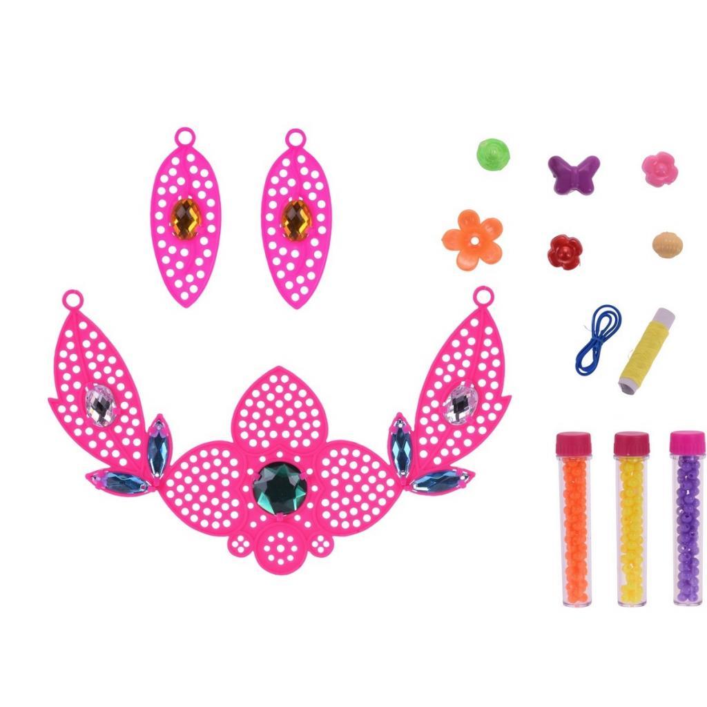 Produktové foto Dětská sada na výrobu šperků Náhrdelník, růžová