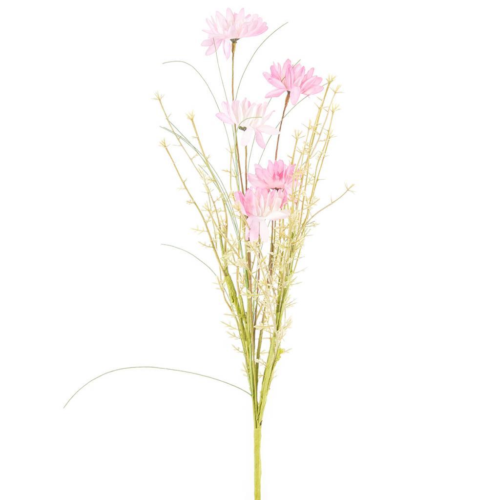 Produktové foto Umělé luční květy 50 cm, růžová