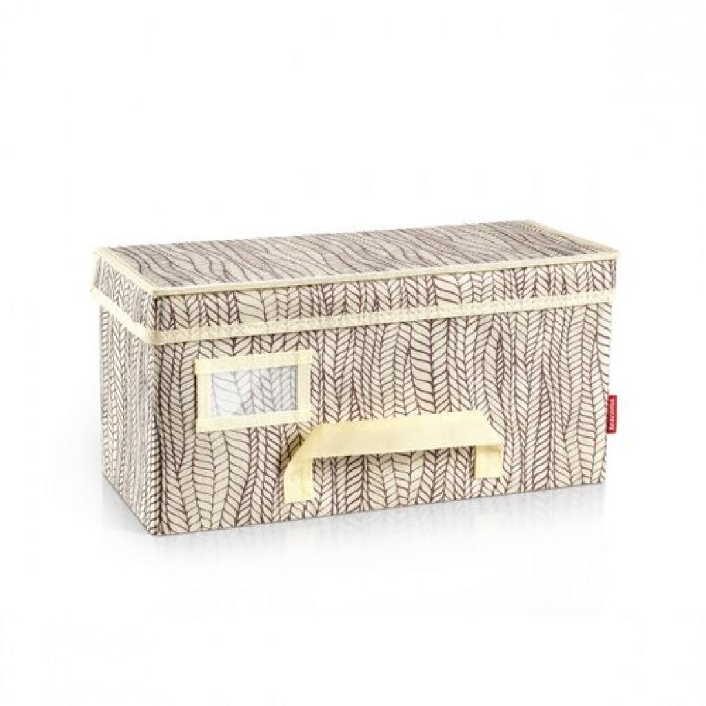 Produktové foto Krabice na oděvy FANCY HOME 40 x 18 x 20 cm, smetanová