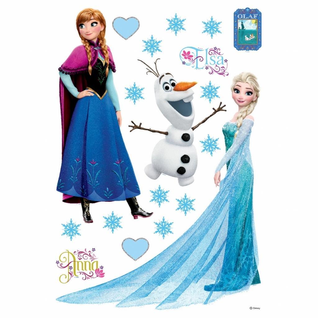 Produktové foto Samolepicí dekorace Elsa, Anna, 42,5 x 65 cm