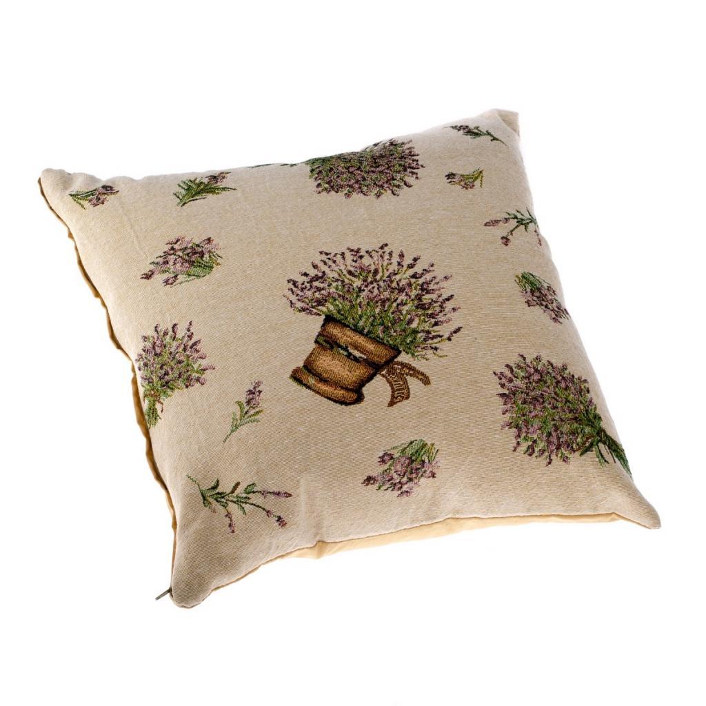 Produktové foto Dakls Povlak na polštářek Levandule v květináči béžová, 40 x 40 cm