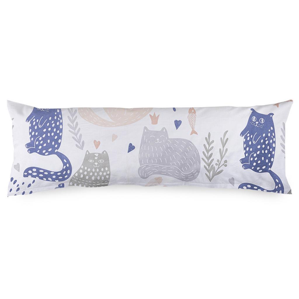 Produktové foto 4Home Povlak na Relaxační polštář Náhradní manžel Nordic Cats, 45 x 120 cm