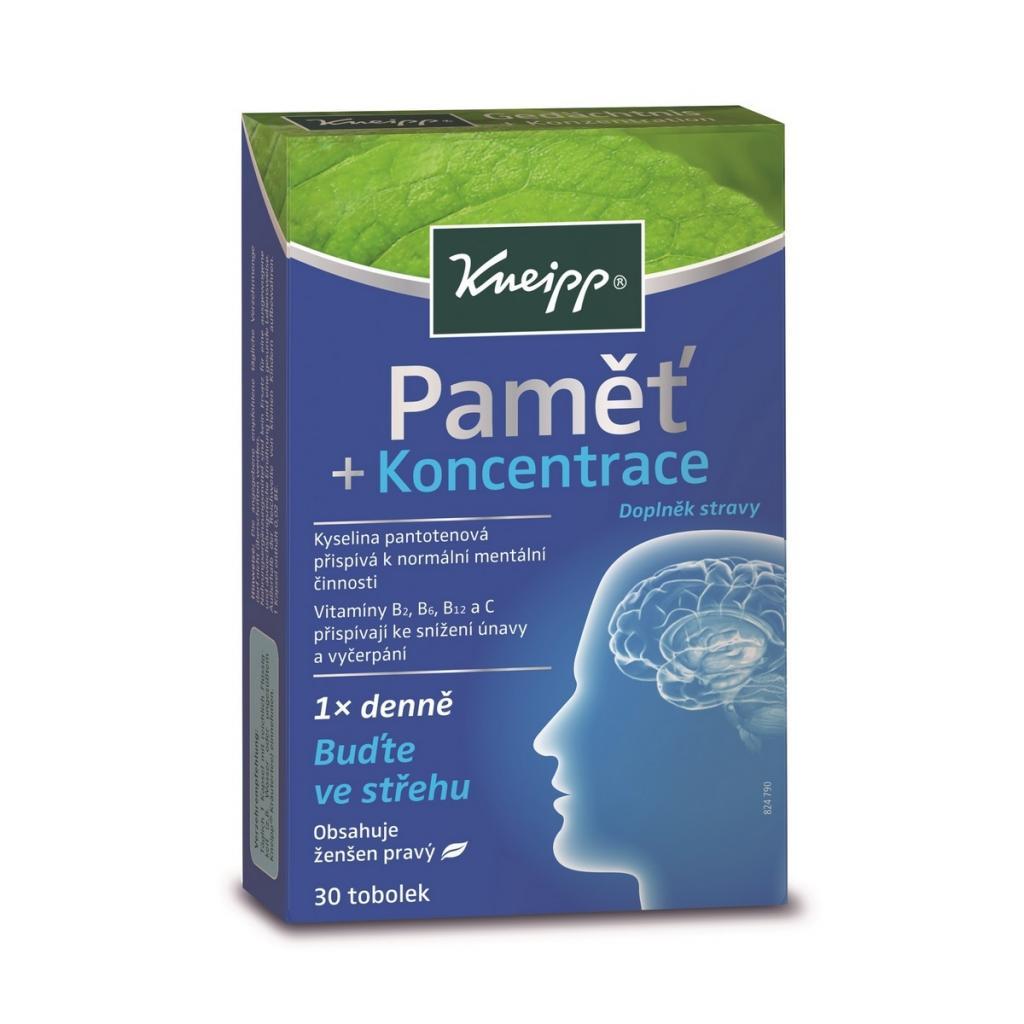 Produktové foto Kneipp Doplněk stravy Paměť a koncentrace, 30 tob.