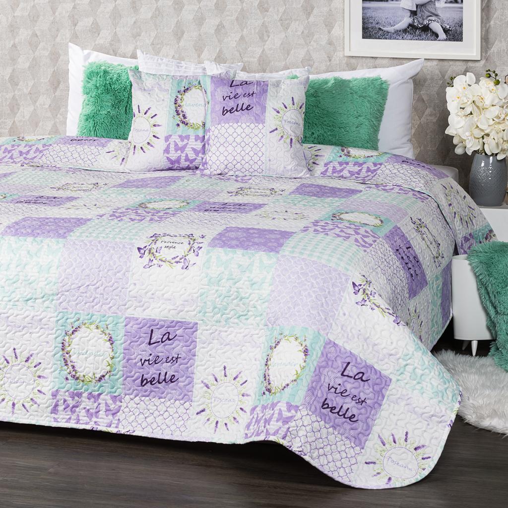 Produktové foto 4Home Přehoz na postel Lavender, 220 x 240 cm, 2 ks 40 x 40 cm