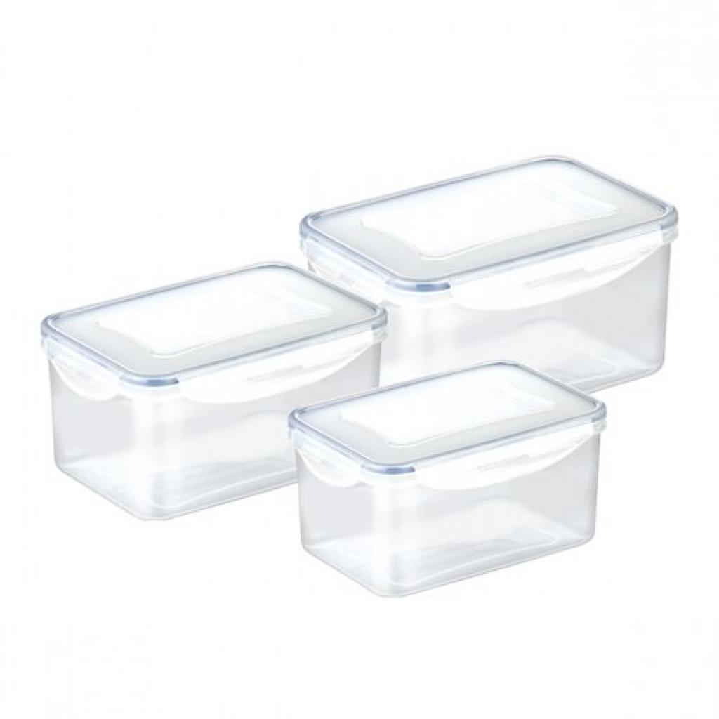 Produktové foto Dóza FRESHBOX 3 ks, 0,9, 1,6, 2,4 l, hluboká