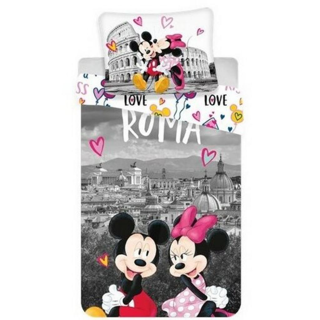 Produktové foto Jerry Fabrics Bavlněné povlečení Mickey and Minnie in Rome, 140 x 200 cm, 70 x 90 cm