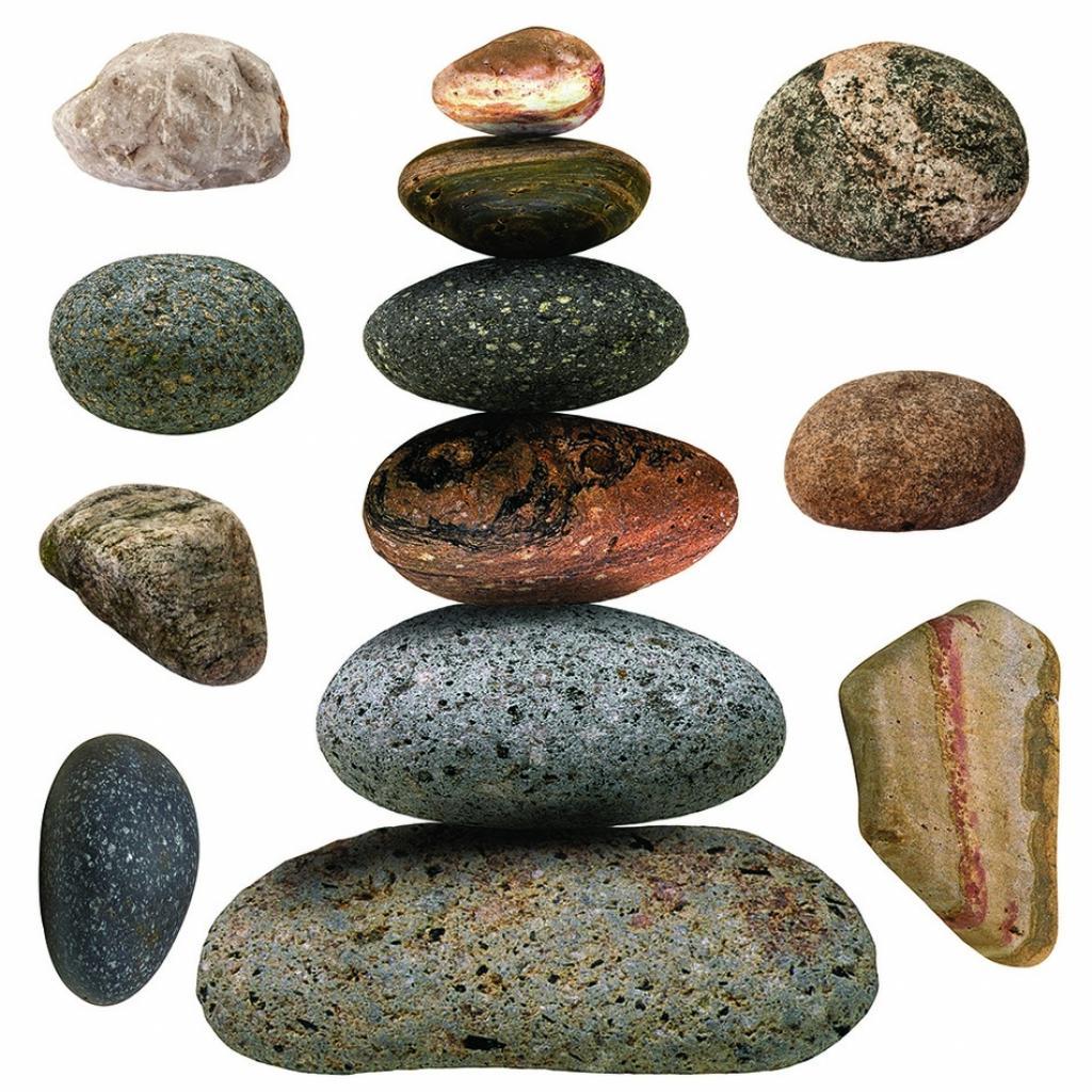 Produktové foto Samolepicí dekorace Stones, 30 x 30 cm