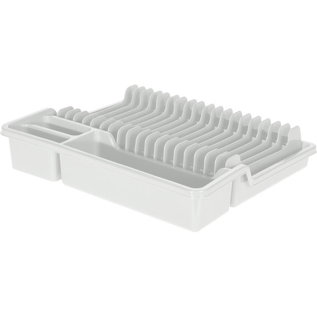 Produktové foto Odkapávač na nádobí, 35 x 30 x 6,8 cm, bílá