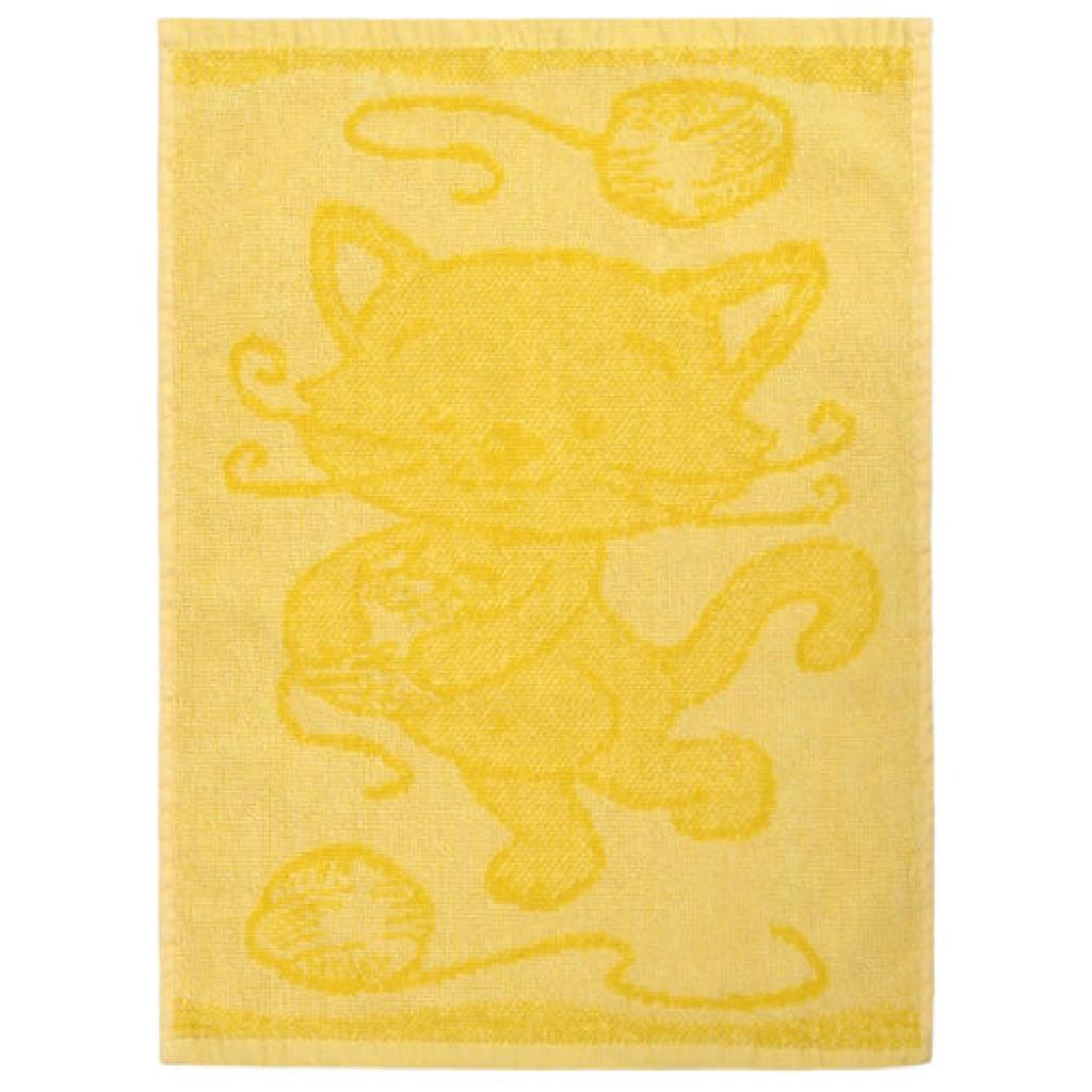 Produktové foto Profod Dětský ručník Cat yellow, 30 x 50 cm
