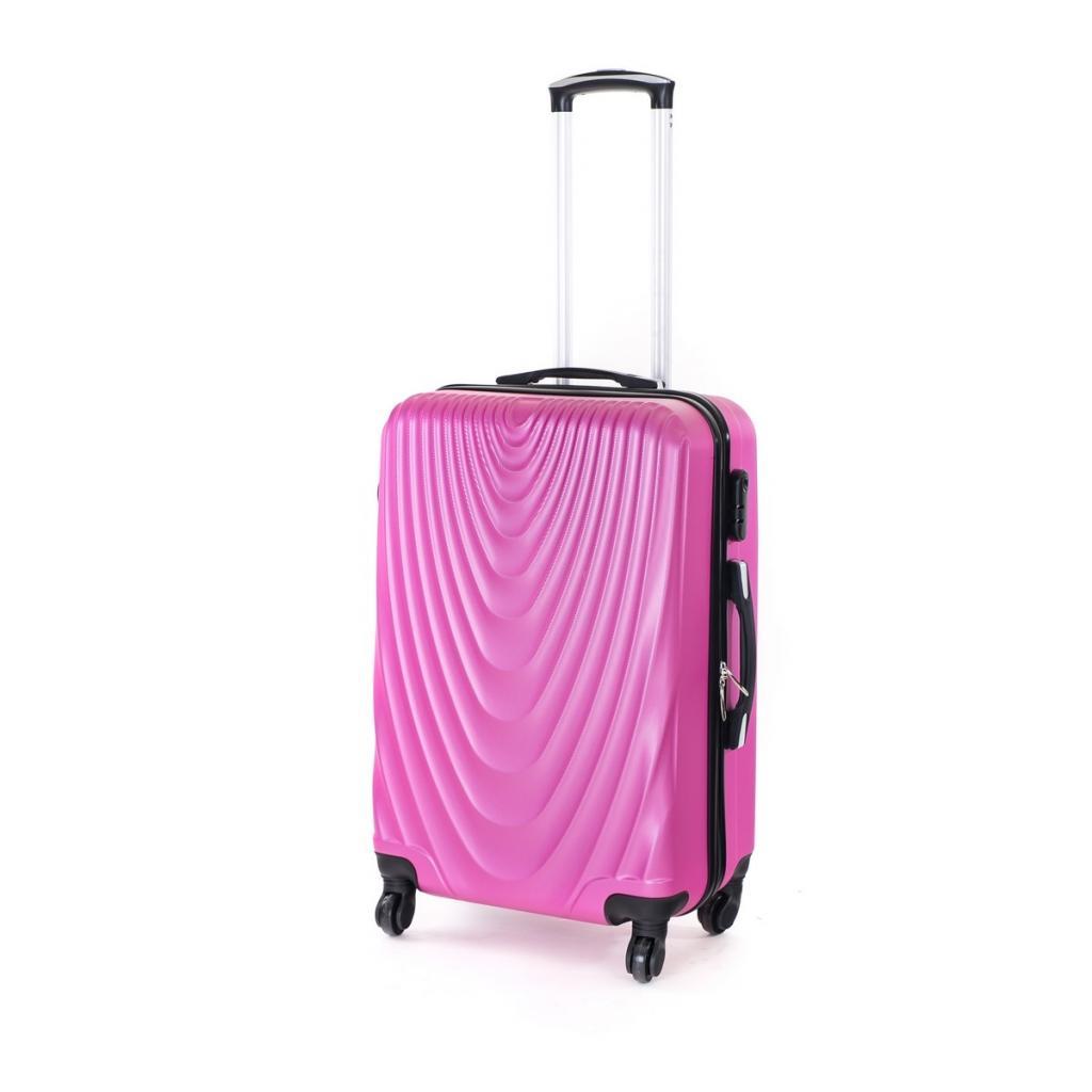 Produktové foto Pretty UP Cestovní skořepinový kufr ABS07 M, fialová