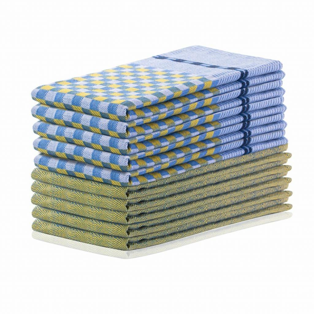 Produktové foto DecoKing Kuchyňská utěrka Louie žlutá a modrá, 50 x 70 cm, sada 10 ks