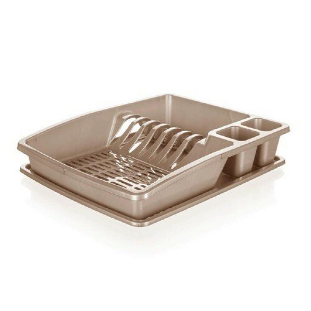 Produktové foto Banquet Odkapávač na nádobí myKitchen, 38 x 31 x 7,5 cm, hnědá