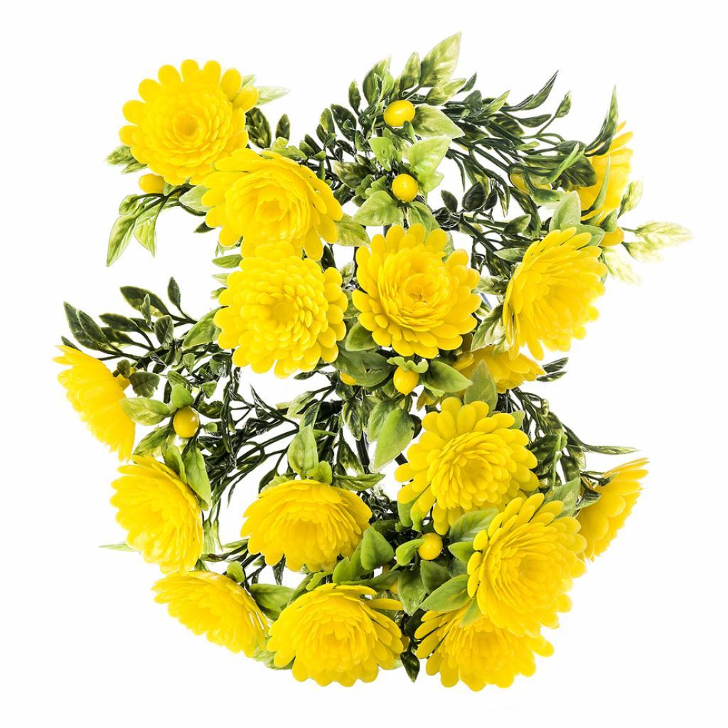 Produktové foto Umělé květiny chryzantéma, žlutá, 30 cm,  HTH