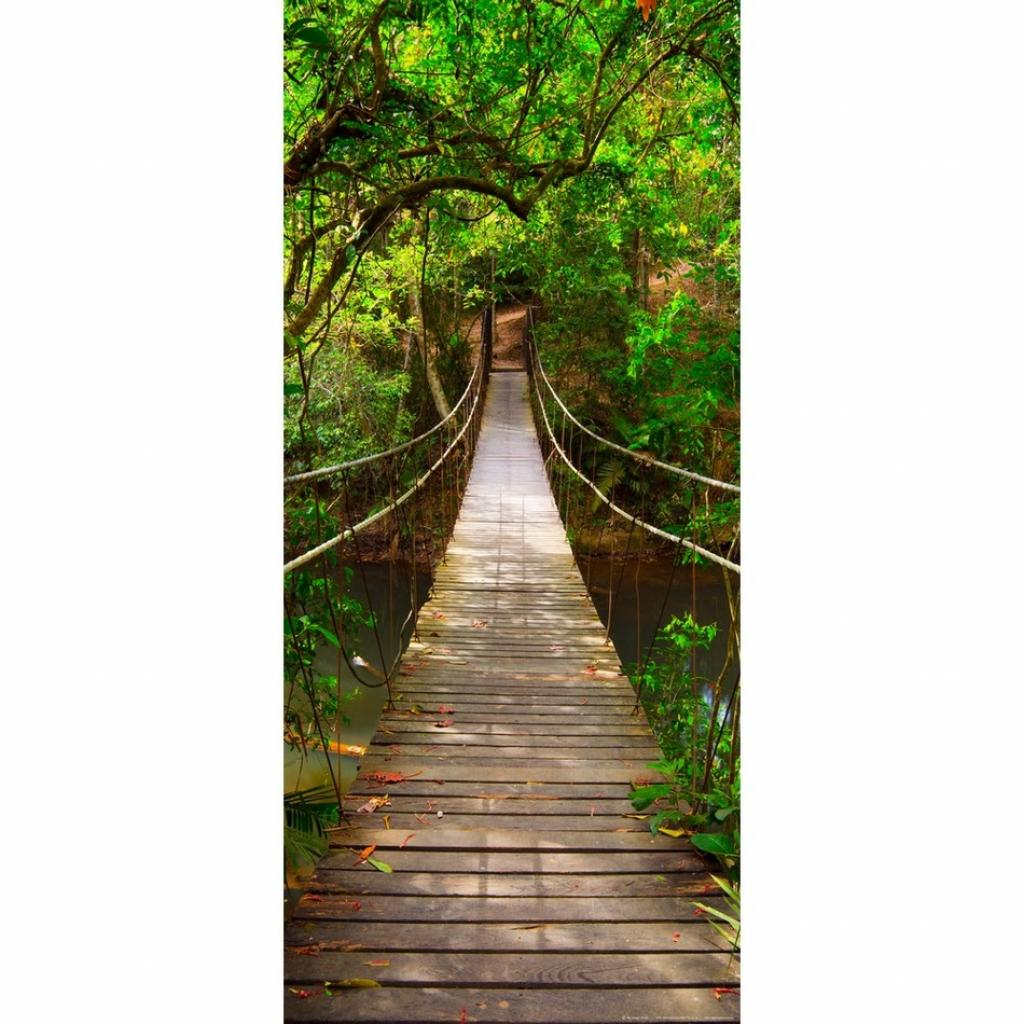 Produktové foto Vertikální fototapeta Green bridge, 90 x 202 cm