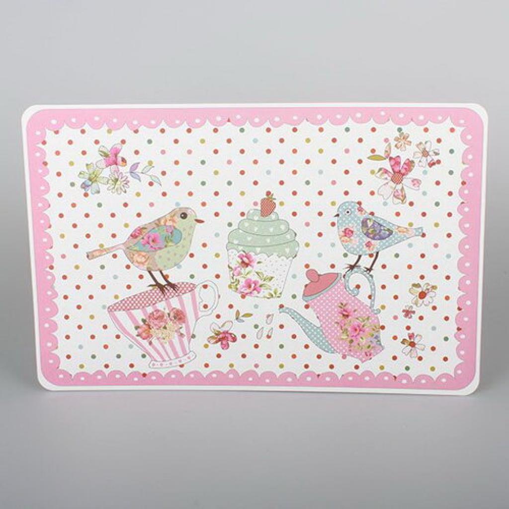 Produktové foto Dakls Prostírání Ptáčci růžová, 43 x 28 cm