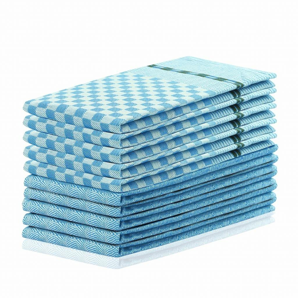 Produktové foto DecoKing Kuchyňská utěrka Louie modrá, 50 x 70 cm, sada 10 ks