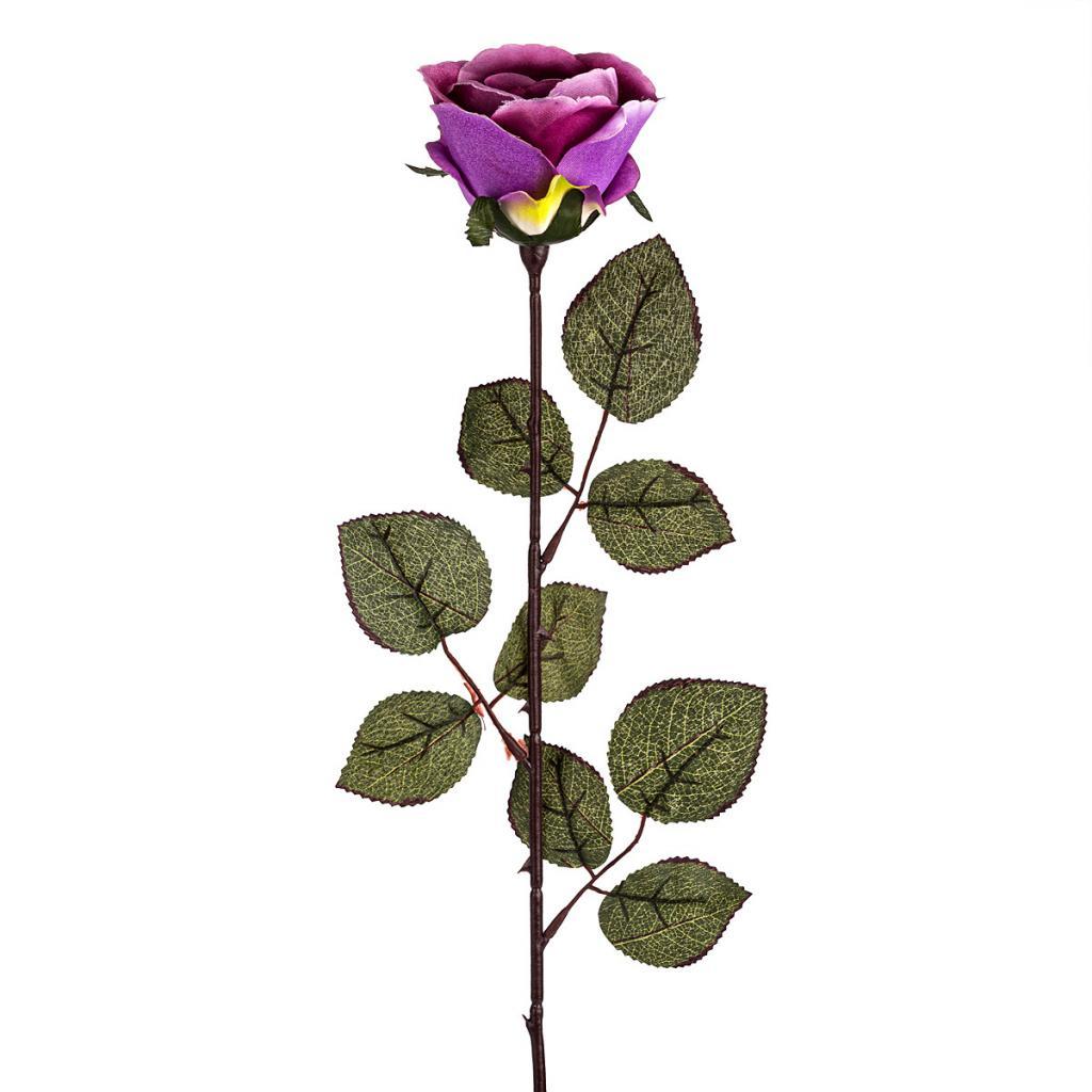 Produktové foto Umělá květina Růže velkokvětá 72 cm, fialová