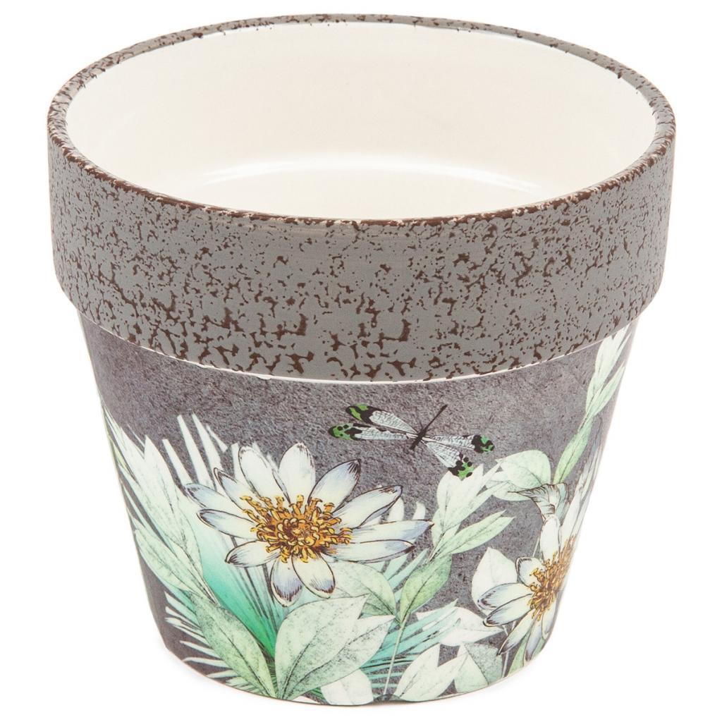 Produktové foto Keramický obal na květináč s jarním kvítím Foli, 14 cm