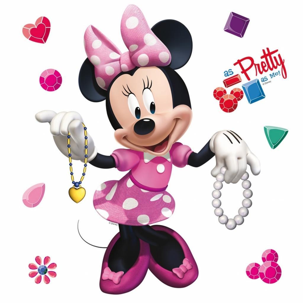 Produktové foto Samolepicí dekorace Minnie Mouse, 30 x 30 cm