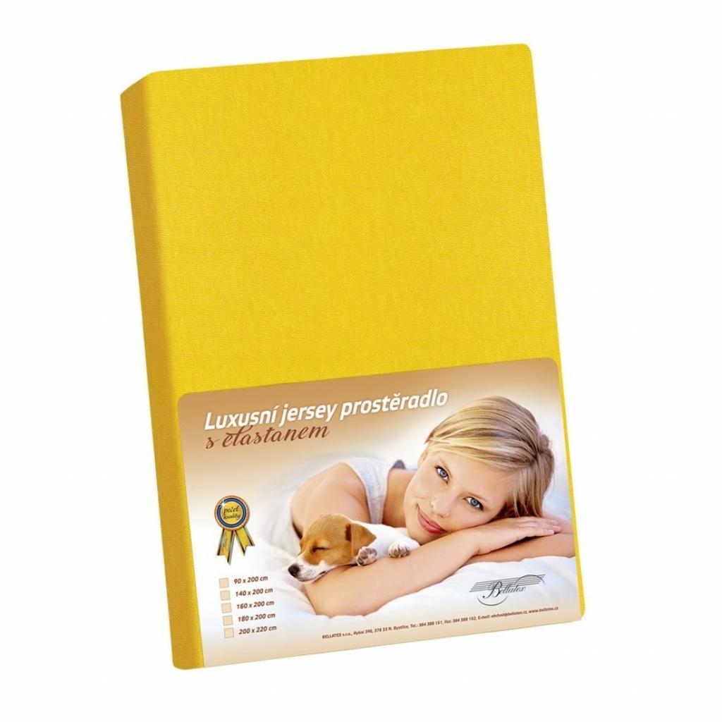 Produktové foto Bellatex Jersey prostěradlo s elastanem žlutá, 90 x 200 cm