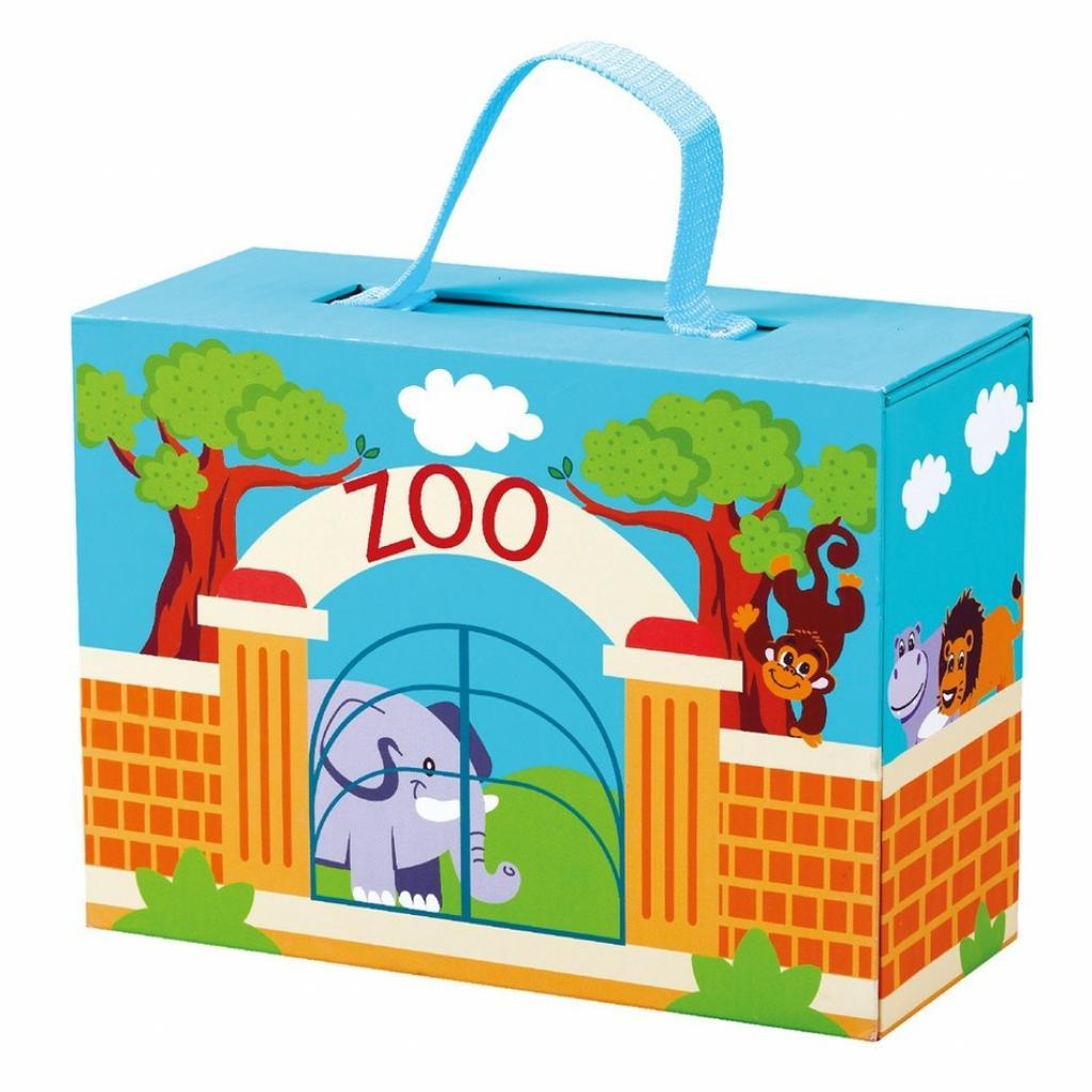 Produktové foto Bino Cestovní kufřík se zvířáky ZOO
