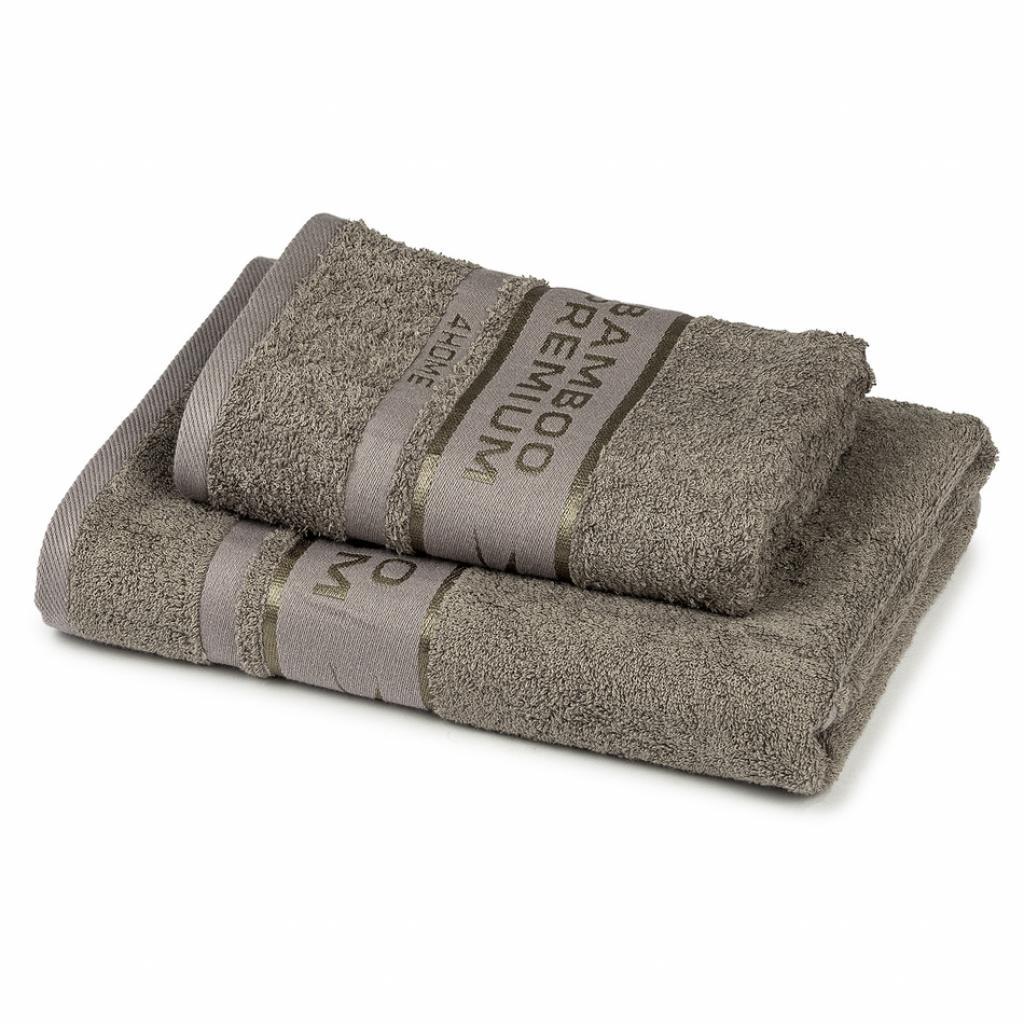 Produktové foto 4Home Sada Bamboo Premium osuška a ručník šedá, 70 x 140 cm, 50 x 100 cm