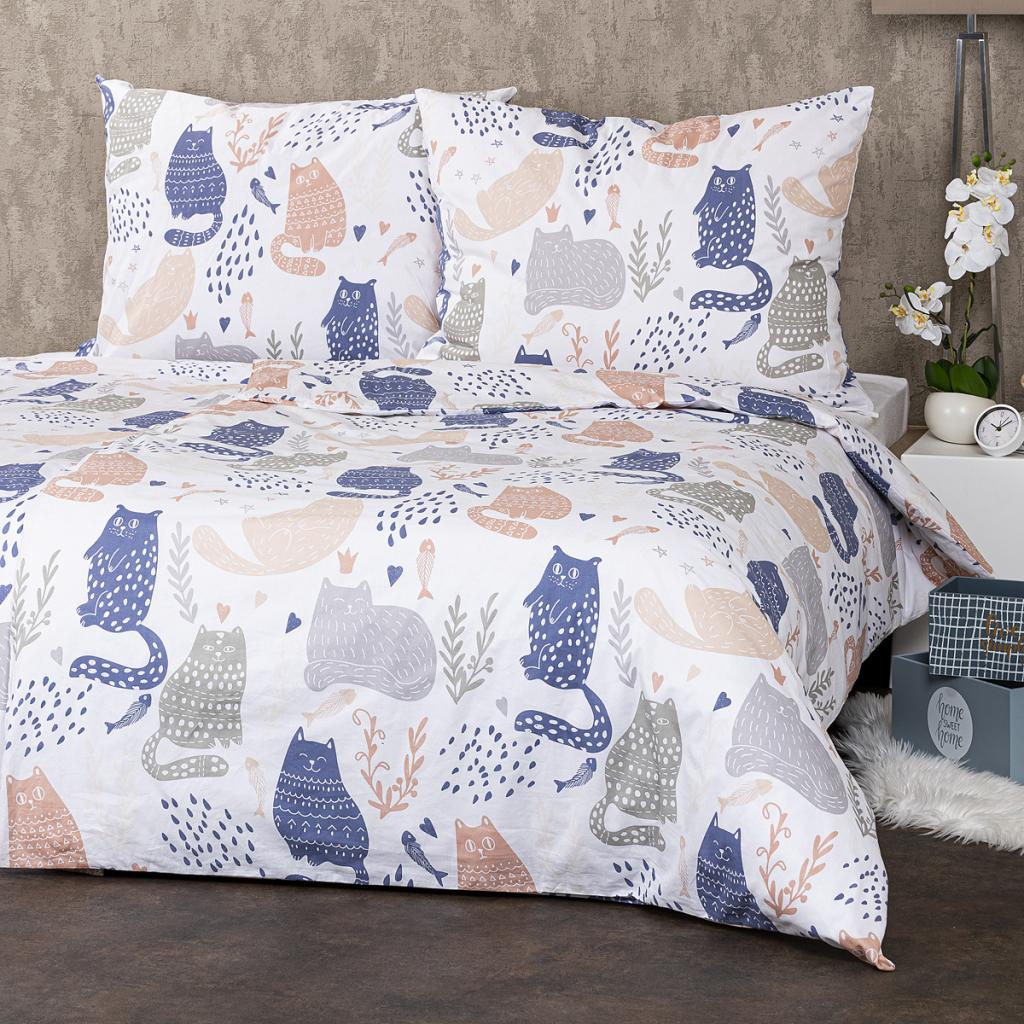 Produktové foto 4Home Bavlněné povlečení Nordic Cats, 140 x 220 cm, 70 x 90 cm