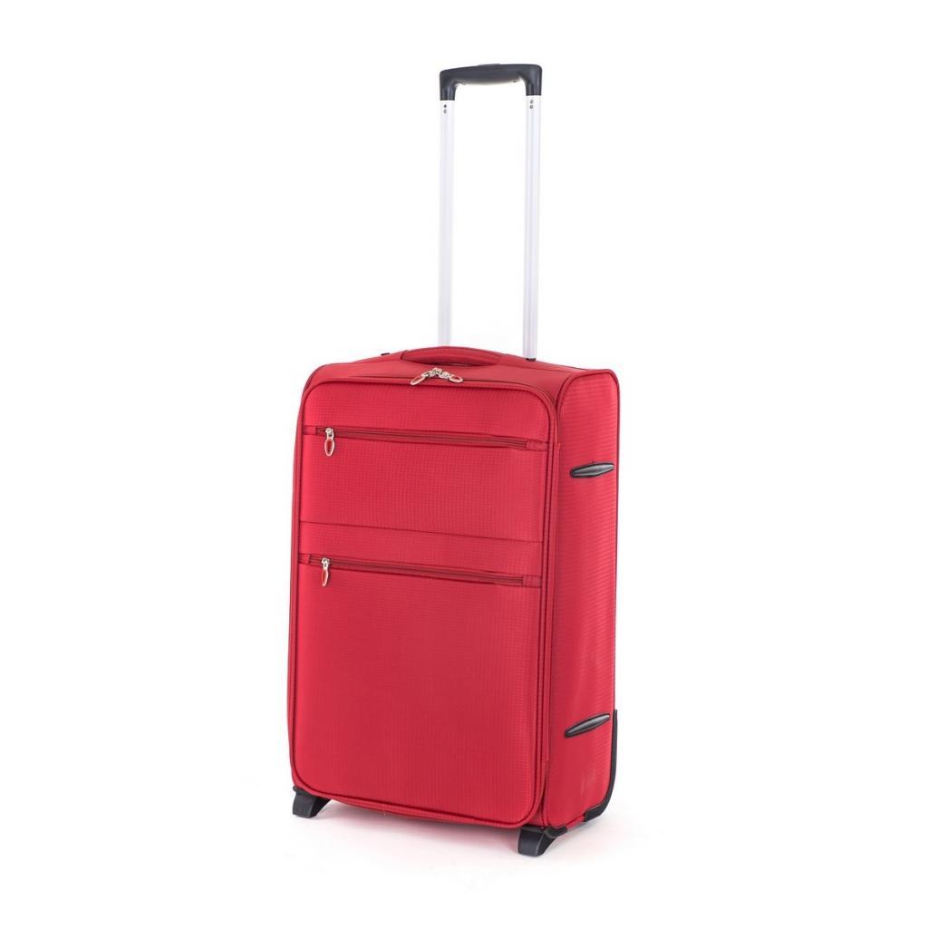 Produktové foto Pretty UP Cestovní textilní kufr TEX15 M, červená