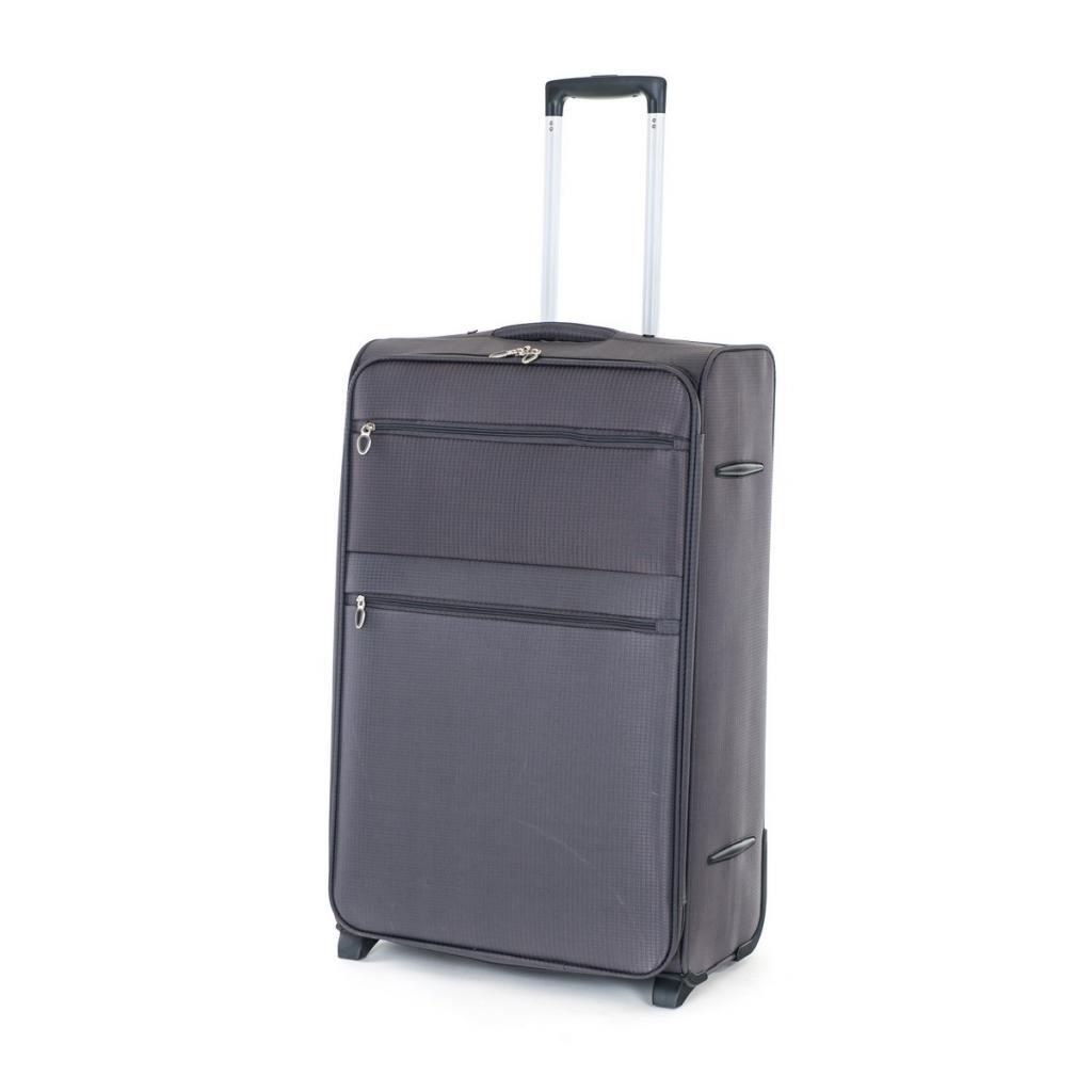Produktové foto Pretty UP Cestovní textilní kufr TEX15 L, šedá