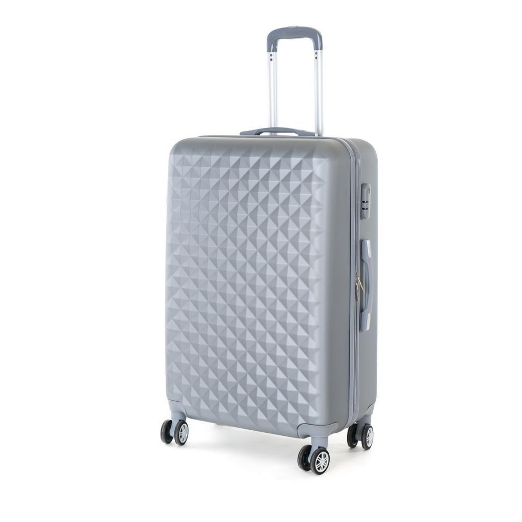 Produktové foto Pretty UP Cestovní skořepinový kufr ABS21 L, šedá
