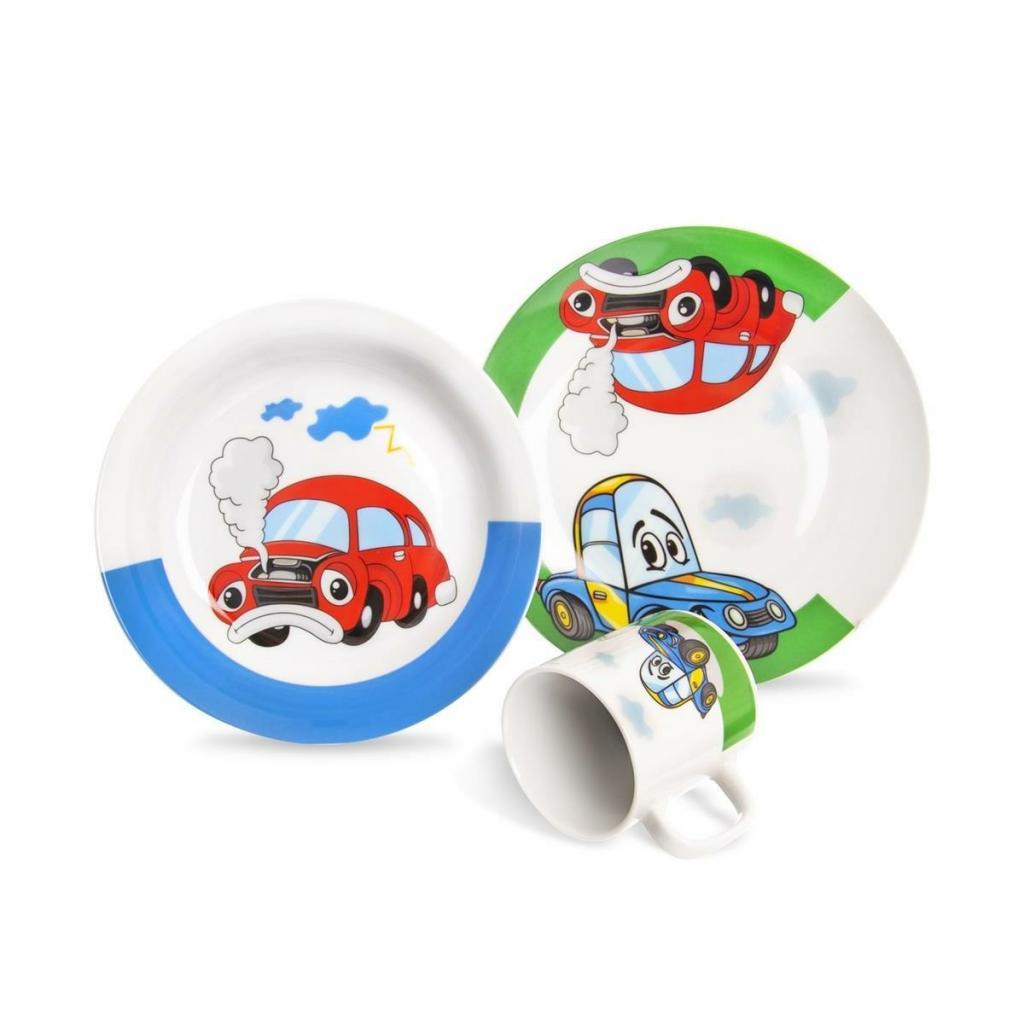 Produktové foto Orion 3dílná dětská jídelní sada Auto