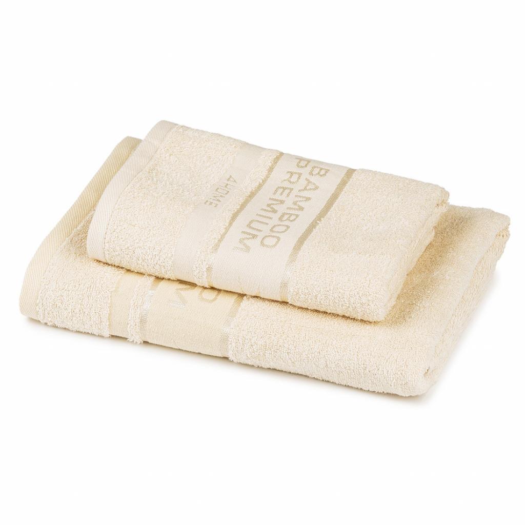 Produktové foto 4Home Sada Bamboo Premium osuška a ručník krémová, 70 x 140 cm, 50 x 100 cm