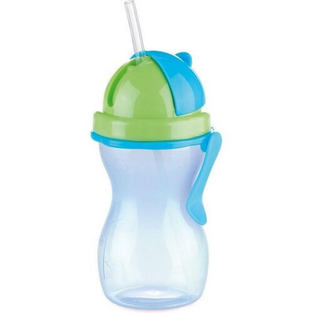 Produktové foto TESCOMA dětská láhev s brčkem BAMBINI 300 ml, zelená, modrá