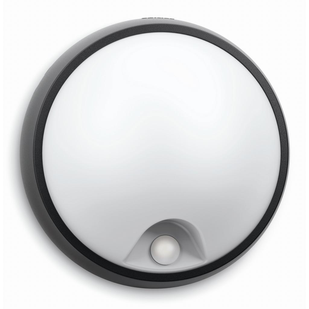 Produktové foto Philips 17318/30/16 Eagle Venkovní nástěnné LED svítidlo s čidlem 17 cm, černá