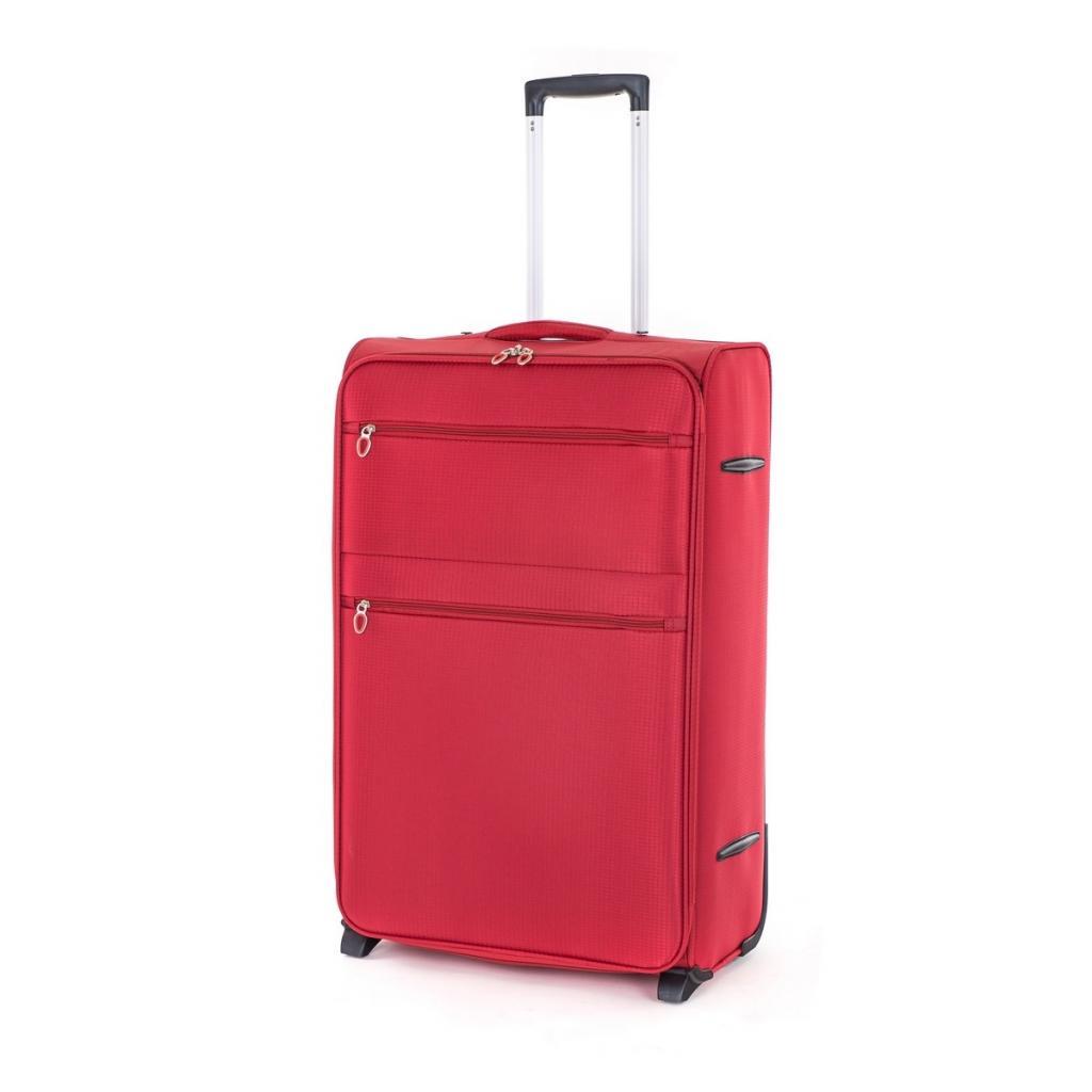 Produktové foto Pretty UP Cestovní textilní kufr TEX15 L, červená