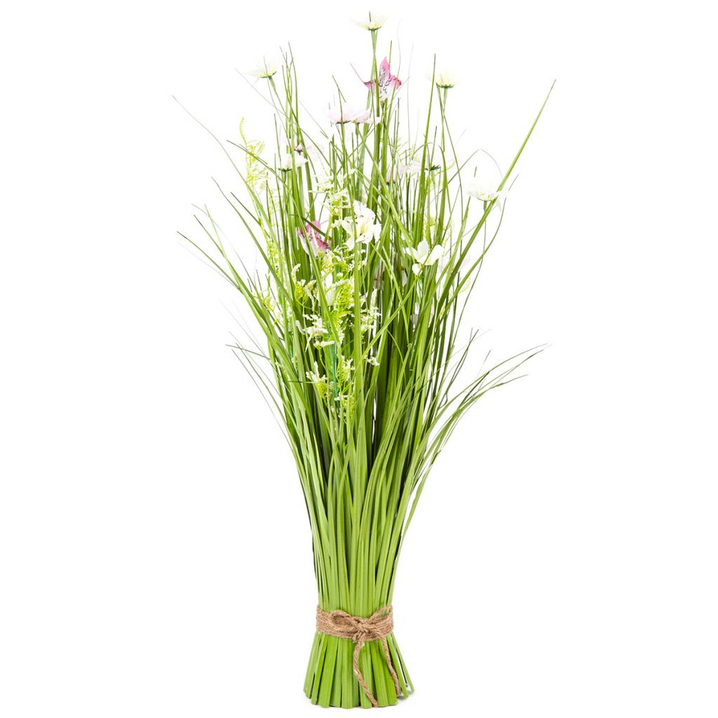 Produktové foto Vazba umělých lučních květin s kopretinami, 70 cm, bílo-růžová