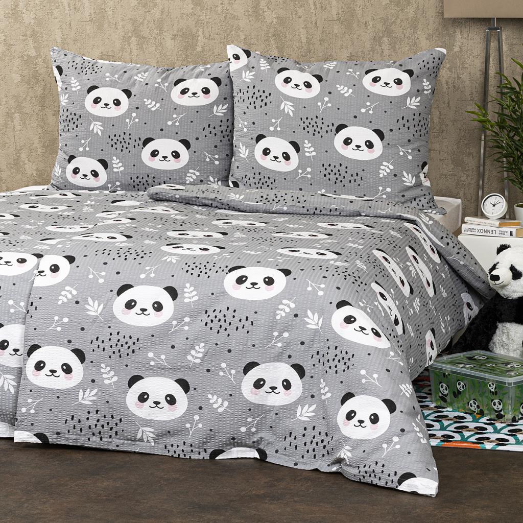 Produktové foto 4Home Krepové povlečení Nordic Panda, 140 x 200 cm, 70 x 90 cm