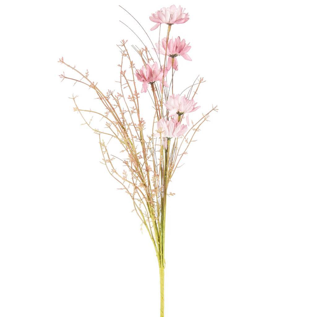 Produktové foto Umělé luční květy 50 cm, starorůžová