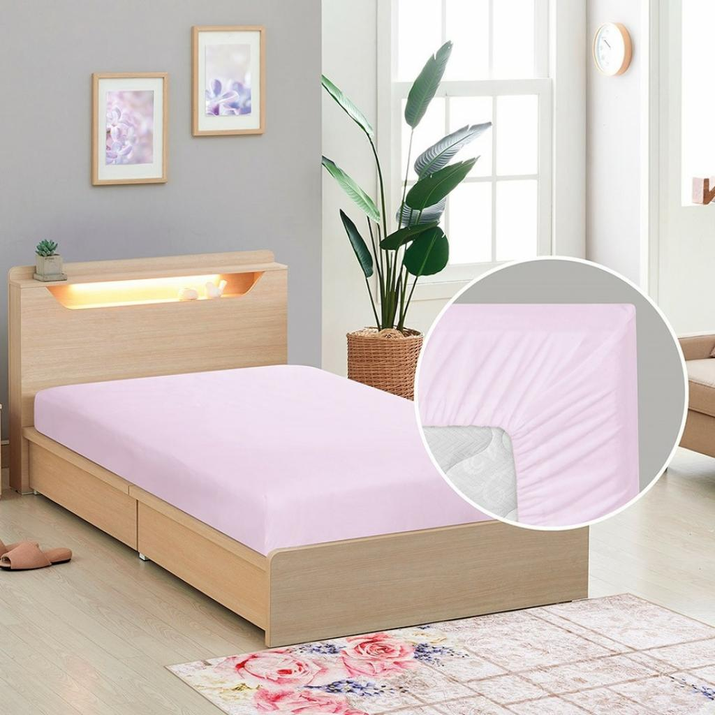 Produktové foto Bellatex Plátěné prostěradlo s gumou fialová, 90 x 200 cm