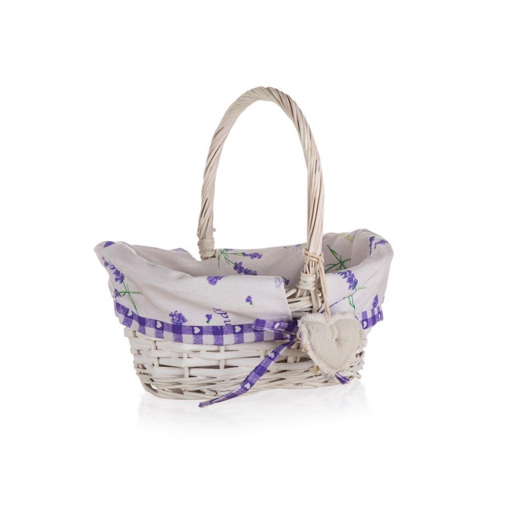 Produktové foto Home Decor Proutěný košík s držadlem Lavender, 26 x 17 x 12 cm