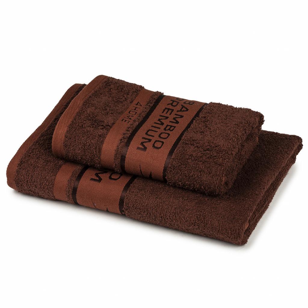 Produktové foto 4Home Sada Bamboo Premium osuška a ručník tmavě hnědá, 70 x 140 cm, 50 x 100 cm