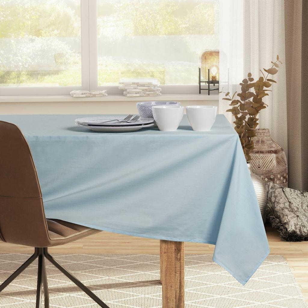 Produktové foto DecoKing Ubrus Pure silver blue, 110 x 110 cm