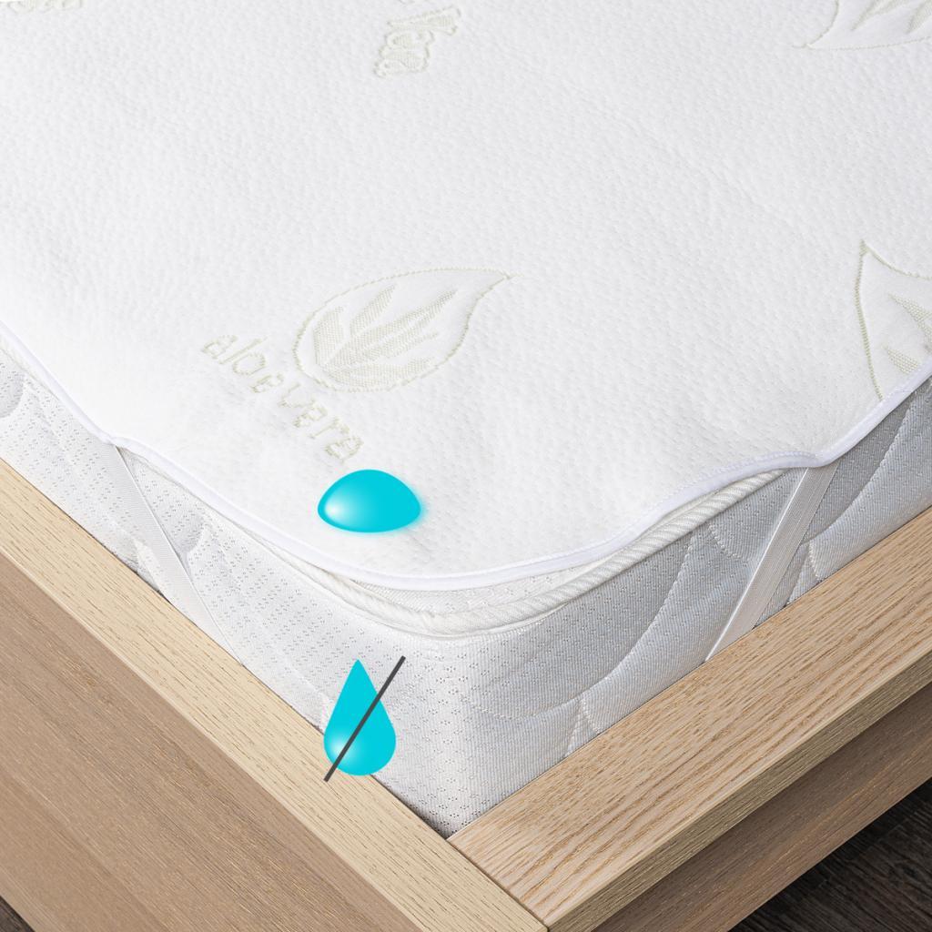 Produktové foto 4Home Aloe Vera Nepropustný chránič matrace s gumou, 90 x 200 cm