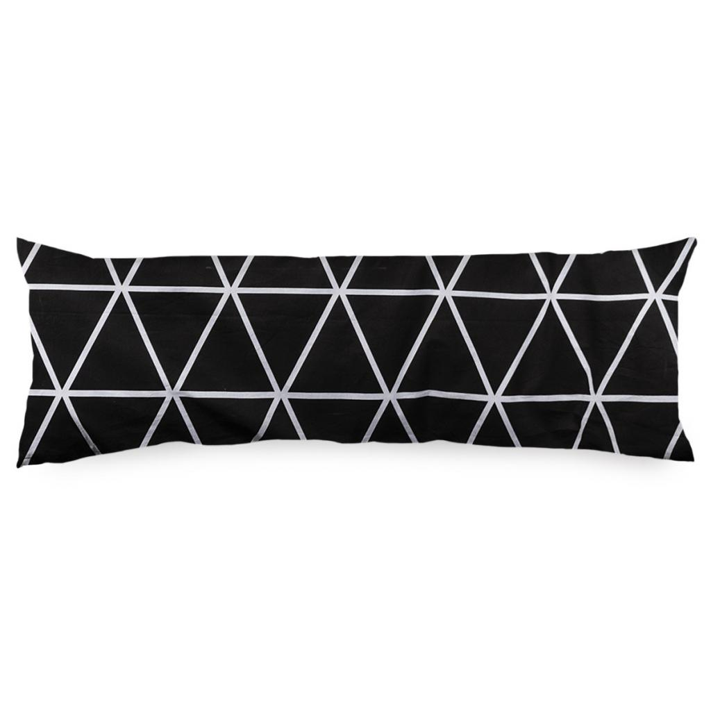 Produktové foto 4Home Povlak na Relaxační polštář Náhradní manžel Galaxy černobílá, 55 x 180 cm