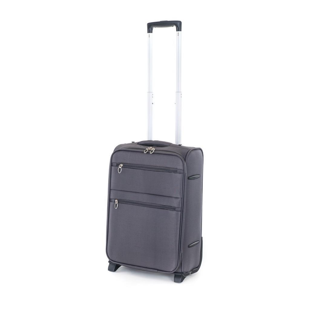 Produktové foto Pretty UP Cestovní textilní kufr TEX15 S, šedá