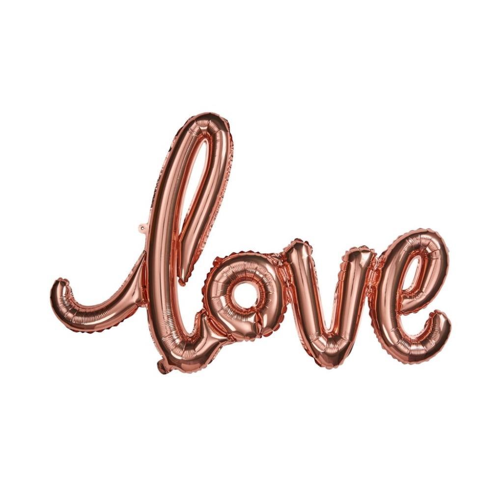 """Produktové foto UPPER CLASS Fóliový balónek """"LOVE"""" - růžová zlatá"""