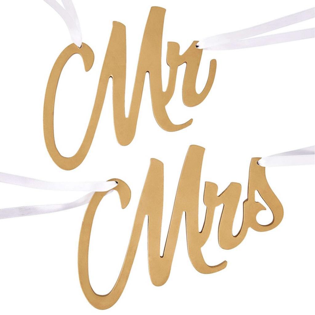 Produktové foto MR & MRS Značky na židli